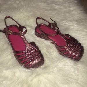 Mel By Melissa Pink Glitter Sandals